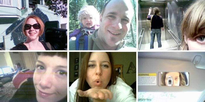 7. Sélection de selfies sur Flickr, 2004-2005.