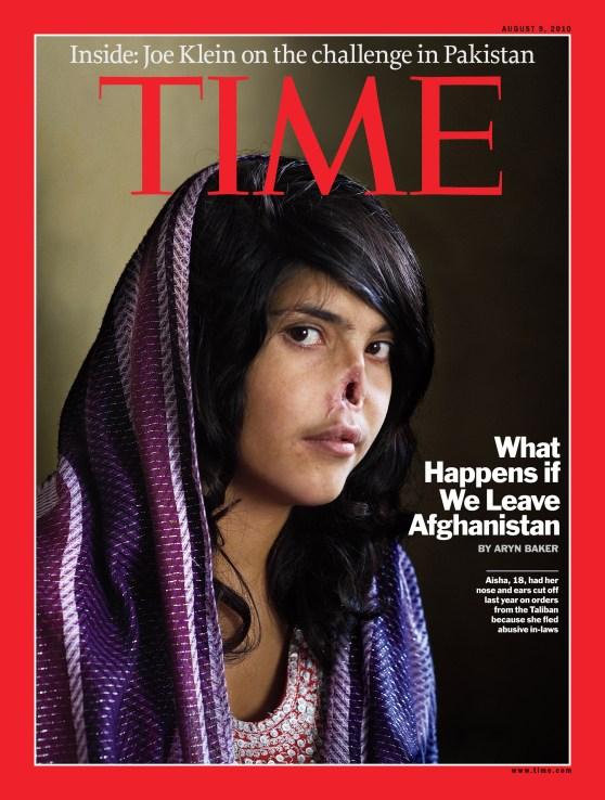 Time, couverture du 09/08/2010 (photo Jodi Bieber).