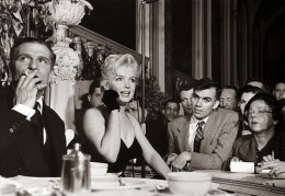 Marilyn Monroe & Laurence Olivier at a Press Conference at the Plaza Hotel, (10)