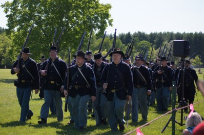The Union forces followed