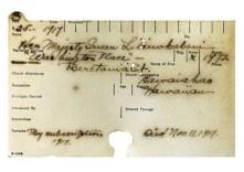 1917 Queen Liliuokalani's YWCA Membership Card-(YWCA)