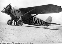 1927-8-16 Dole Derby Aloha 03-Capt. William P. Erwin and A. H. Eichwaldt took off in the Dallas Spirit and returned because of torn wing fabric.