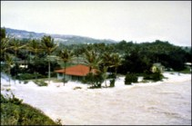 1957-Laie-tsunami. 03-09-57 Arrival of a major wave at Laie Point on the Island of Oahu. (National Geophysical Data Center).