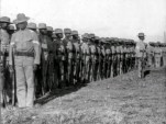 24th U.S. Infantry at drill, Camp Walker, Philippine Islands