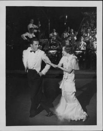 3-Oni Oni, with dancers Hazel Hale and Clayton Ramler at the Royal Hawaiian Hotel-P-4-3-010-Oct 10, 1934