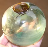 3-piece mold float thought to have originated in Korea. It has an amber seal button