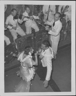 4-Oni Oni, with dancers Hazel Hale and Clayton Ramler at the Royal Hawaiian Hotel-P-4-3-011-Oct 10, 1934