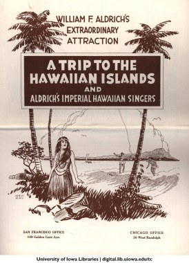 A Trip to the Hawaiin Islands and Aldrich's Imperial Hawaiian Singers-cover