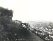 A scenic view of Waikiki from high up on Punchbowl provided for a leisure drive in the early 1900s.