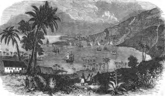 A sketch of Kealakekua Bay in 1864, by Missionary Rufus Anderson