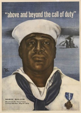 Above_and_beyond_poster-1943 U.S. Navy recruiting poster featuring Doris Miller