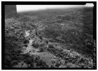 Aerial view, Kahawaihapapa Bridge looking west - Hana Belt Road-219623pv