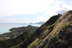 Almost to the top of trail to lanikai-bunkers-punynari