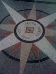 Aloha Tower Marker Under Tower