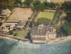An aerial view of the Elks Lodge's original Waikiki building.