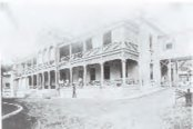 An early façade (1861) of The Queen's Hospital