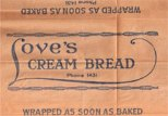 An old paper wrapper for Love's Bakery Cream-note-4-digit-phone_number-(Love's)