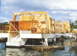 Arizona Memorial under construction