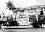 Bathing beauties on a fire truck advertised a 1948-49 E.K. Fernandez circus.-(HnlAdv)