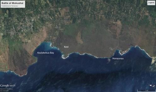 Battle of Mokuohai - Kealakekua to Honaunau-GoogleEarth