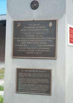 Battle of Tarawa Memorial