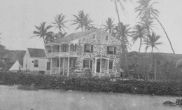 Bayside_view_of_Hulihee_Palace,_prior_to_1884-portion-Umi stones in corners