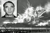 Bernard_Julius_Otto_Kuehns_mug_shot_superimposed_over_USS_SHAW_exploding_-_1941