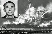 Bernard_Julius_Otto_Kuehns_mug_shot_superimposed_over_USS_SHAW_exploding_-_1941