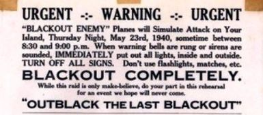 Blackout Notice-May 23, 1940