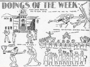 Cartoon from the Nov. 08, 1932 issue of Ka Punahou-Punahou