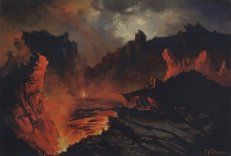 Charles_Furneaux_-_oil_on_panel_'Kilauea'