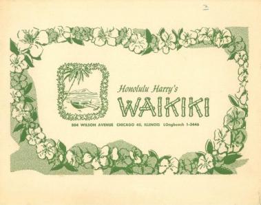 Chicago - Honolulu Harry's Waikiki - Photo Holder