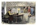 Chinese Merchant Weighing Opium, 1880s