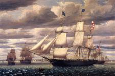 Clipper_Ship_Southern_Cross_Leaving_Boston_Harbor_1851