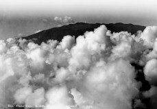 Cloudy slopes of Mauna Kea volcano on the Big Island of Hawaii, where Maj. Harold Clark crashed in 1918