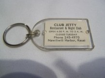 Club Jetty Hologram Key Chain-back
