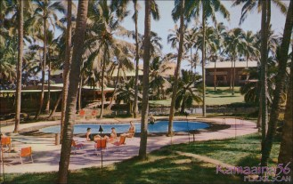 Coco-Palms Queen's Bath Pool-(kamaaina56)-c1955