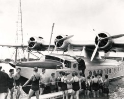 Commercial air service to Hawaii inaugurated on April 20, 1935 - Pioneer Clipper
