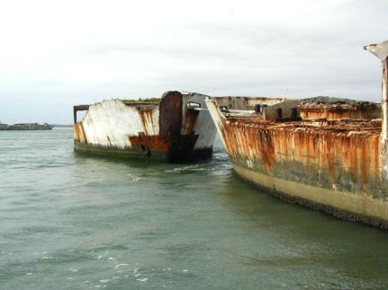 Concrete Fuel Barges as Breakwater-Kiptopeke, Virginia-Rooney