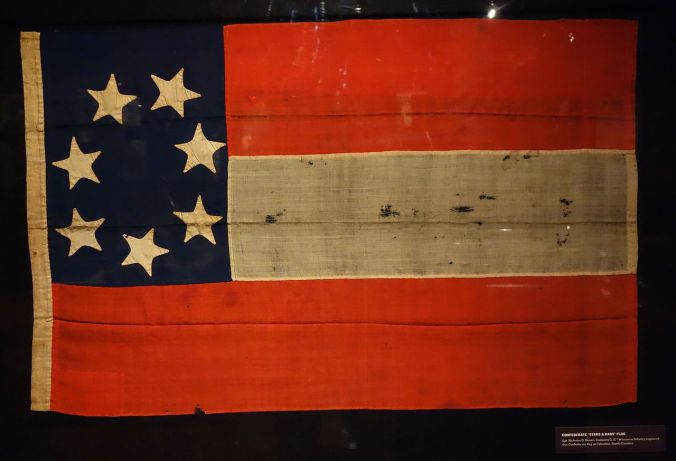 Confederate_Stars_and_Bars_Flag_captured_at_Columbia_South_Carolina_-_Wisconsin_Veterans_Museum