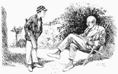 Cricketer-Yes, I cocked one off the splice in the gully and the blighter gathered it-Father-Yes, but how did you get out-Were you caught, stumped or bowled or what