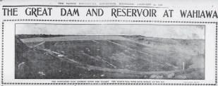 Dam and Reservoir at Wahiawa-PCA-Feb_15_1906