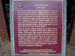 David Douglas sign-Canada