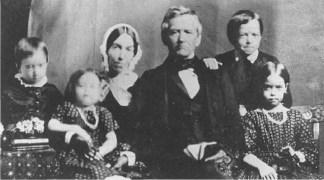 David_Lyman,_Sarah_Lyman_and_children,_Hilo,_in_1853