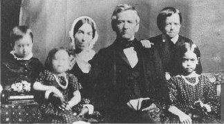 David_Lyman,_Sarah_Lyman_and_children,_Hilo,_in_1853