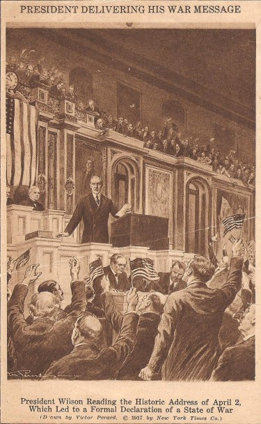 Declaration of War -Wilson Delivering War Message