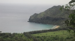"""Kipukai, the view that Matt and his daughters see of their ancestral land in the movie """"The Descendants."""""""