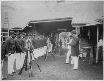 Disbandment of the Queen's Guard, Honolulu-(HHS-6056)-1893