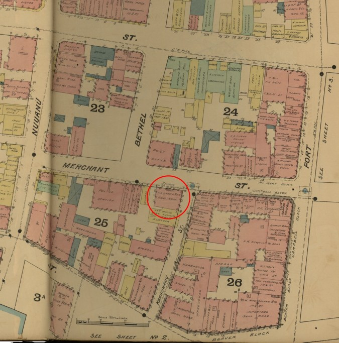Downtown and Vicinity-Dakin-Fire Insurance- 4-Map-1891-noting Melcher's Building