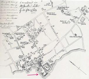Downtown_Honolulu-Map-noting Robinson Wharf-1843